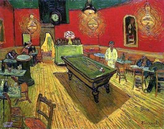 Description of the painting by Van Gogh Night Cafe