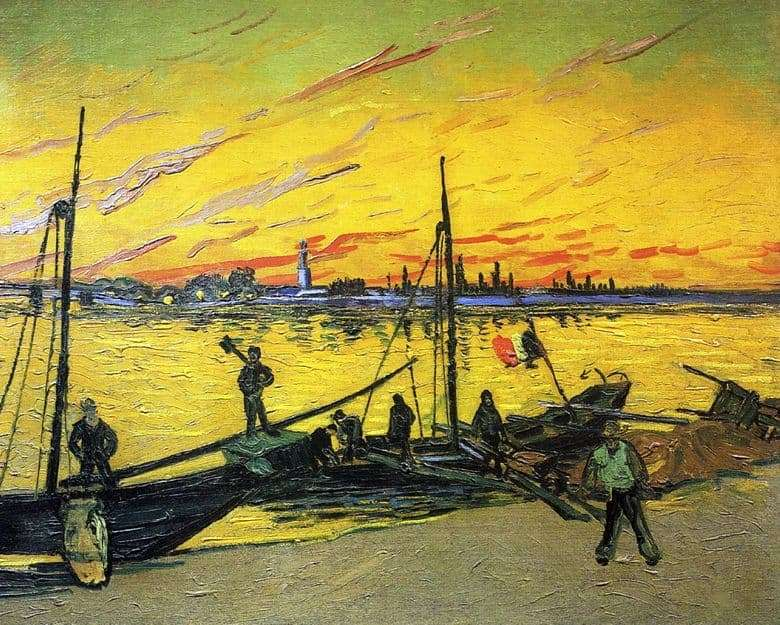Description of the painting by Vincent Willem van Gogh Coal Barges