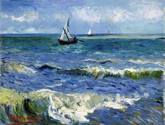 Description of the painting by Vincent Van Gogh Boats in the sea