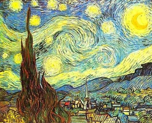 Description of the painting by Vincent Van Gogh Starry Night