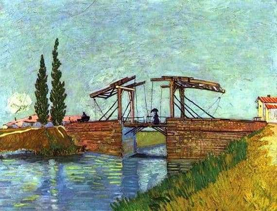 Description of the painting by Vincent van Gogh Bridge Anglua in Arles
