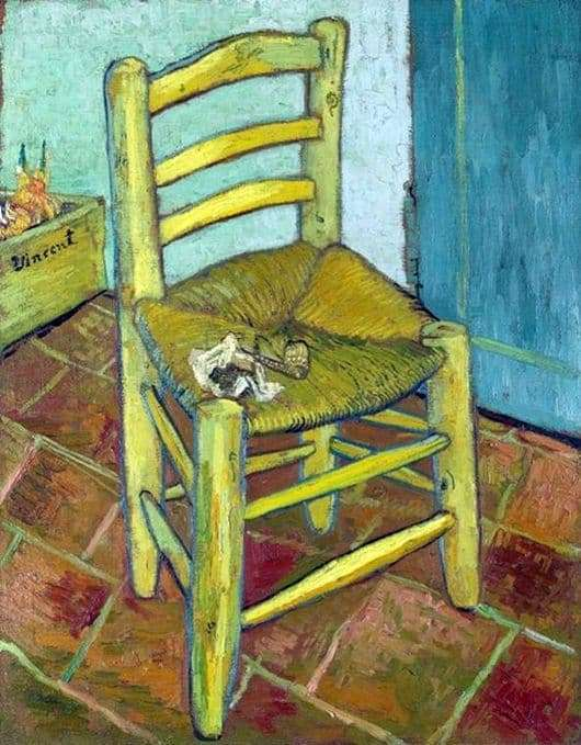 Description of the painting by Vincent Van Gogh Van Goghs Chair