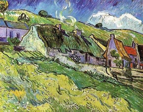 Description of the painting by Vincent Van Gogh Huts