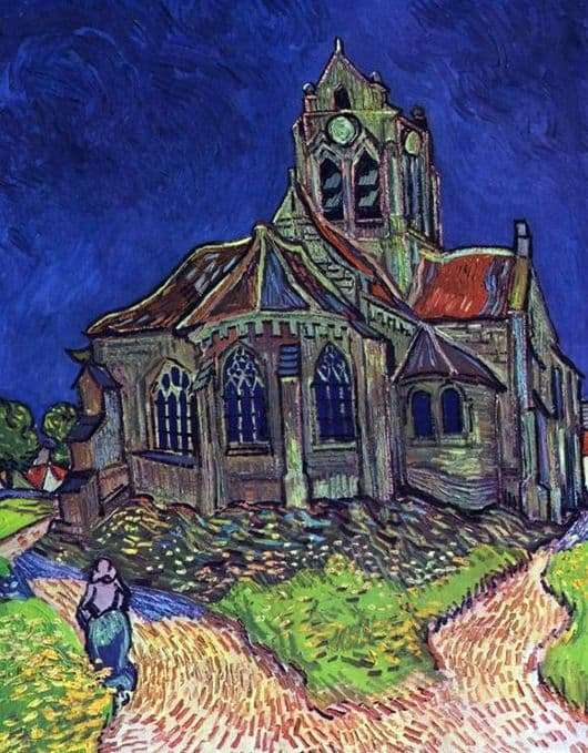 Description of the painting by Vincent Willem Van Gogh Church in Auvers