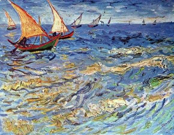 Description of the painting by Vincent van Gogh Sea in Saint Mary