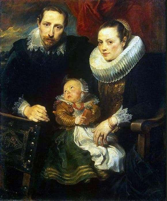 Description of the painting by Anthony Van Dyck Family Portrait