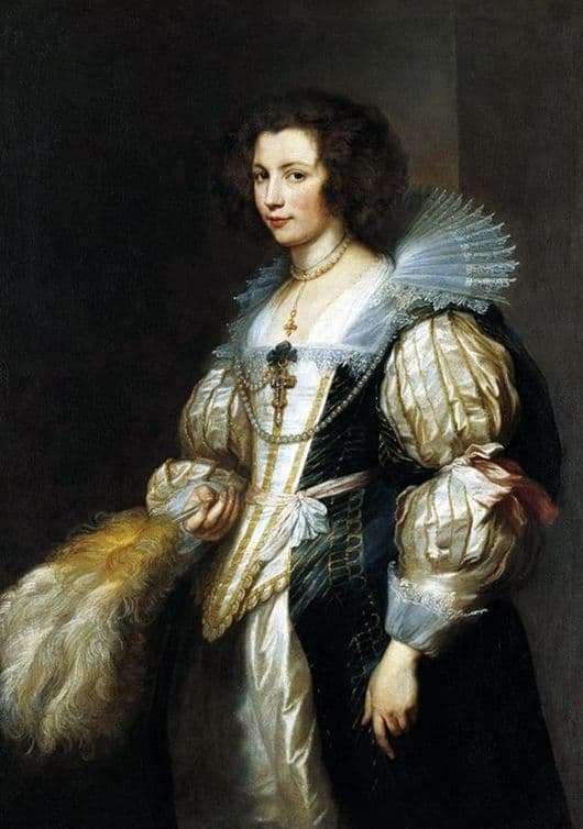 Description of the painting by Anthony Van Dyck Marie Louise de Tassis