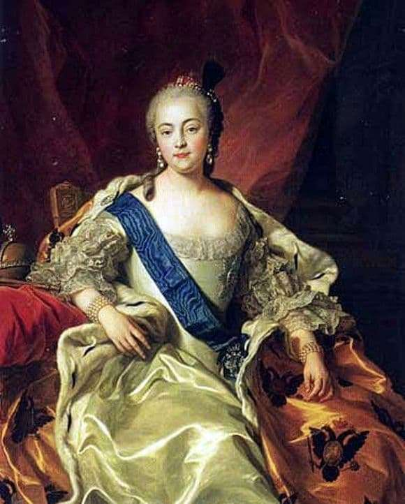 Description of the painting by Karl Van Loo Portrait of Empress Elizabeth Petrovna