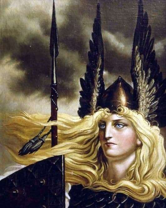 Description of the painting by Konstantin Vasilyev Valkyrie