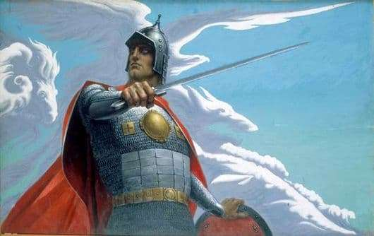 Description of the painting by Konstantin Vasilyev Russian Knight