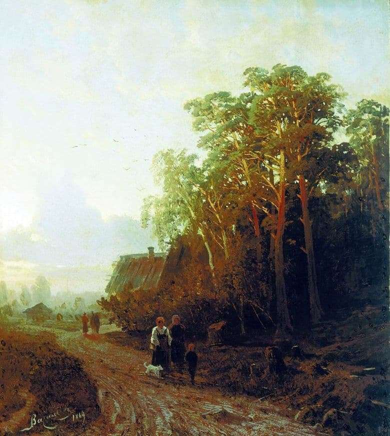 Description of the painting by Fyodor Vasilyev Evening