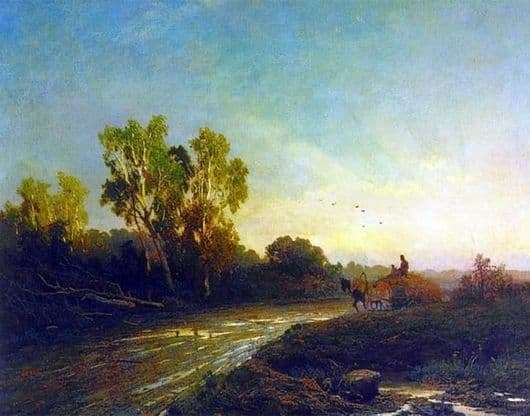 Description of the painting by Fyodor Vasilyev After the rain