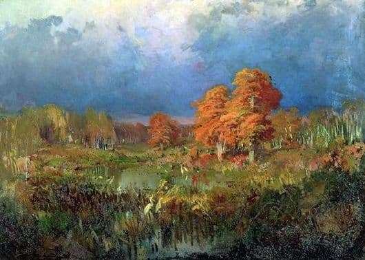 Description of the painting by Fyodor Vasilyev Swamp in the forest