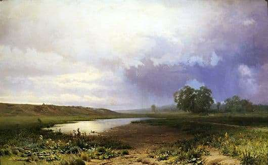 Description of the painting by Fyodor Vasilyev Wet Meadow