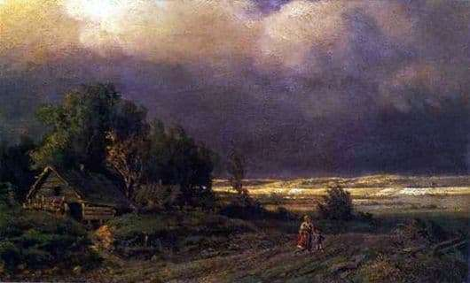 Description of the painting by Fyodor Vasilyev Before the storm