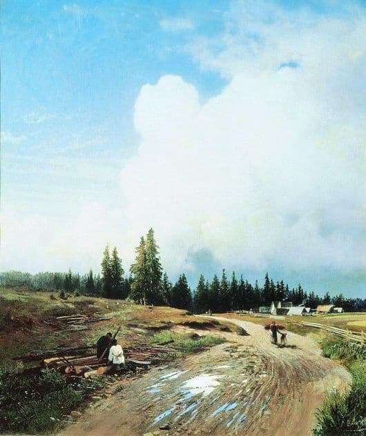 Description of the painting by Fedor Alexandrovich Vasiliev After the Thunderstorm