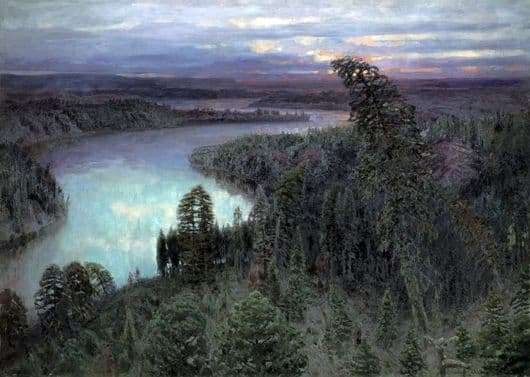 Description of the painting by Apollinarius Vasnetsov Northern Territory