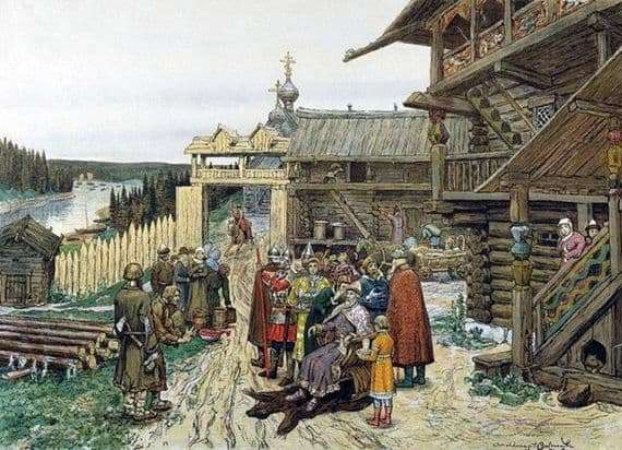 Description of the painting by Apollinarius Vasnetsov The court of the specific prince