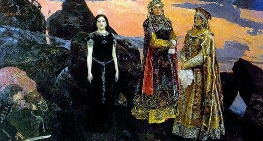 Description of the painting by Victor Vasnetsov Three princesses of the underworld