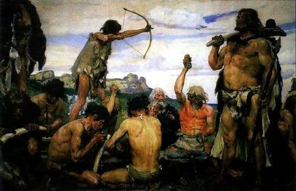 Description of the painting by Victor Vasnetsov Stone Age