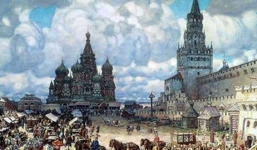Description of the painting by Viktor Vasnetsov Red Square