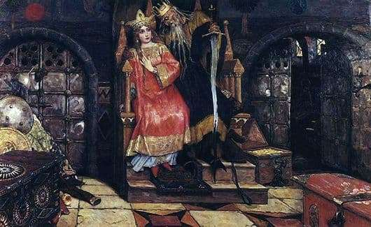 Description of the painting by Viktor Vasnetsov Kashchey the Immortal