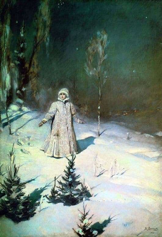 Description of the painting by Victor Vasnetsov Snow Maiden