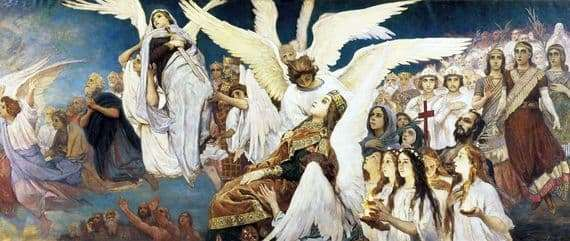 Description of the painting by Victor Vasnetsov The joy of the righteous in the Lord