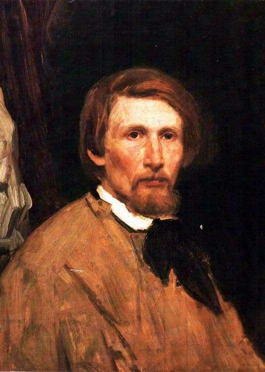 Description of the painting by Viktor Vasnetsov Self portrait