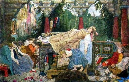 Description of the painting by Victor Vasnetsov The Sleeping Princess