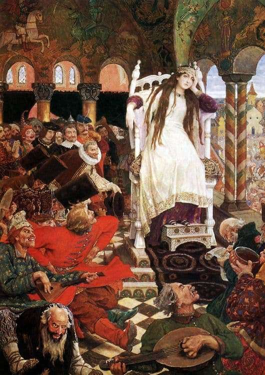 Description of the painting by Viktor Vasnetsov Tsarevna Nesmeyana