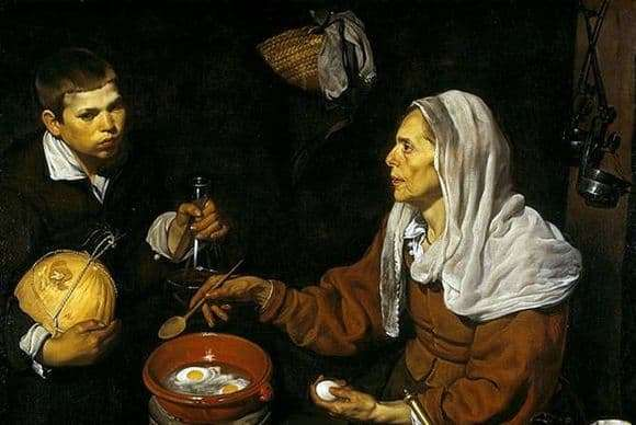 Description of the painting by Diego Velázquez Old cook