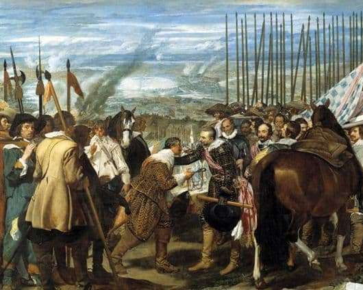 Description of the painting by Diego Velázquez Surrender of Breda