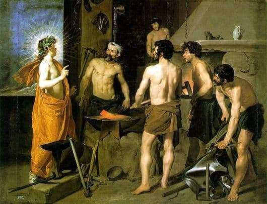 Description of the painting by Diego Velázquez The Forge of the Volcano