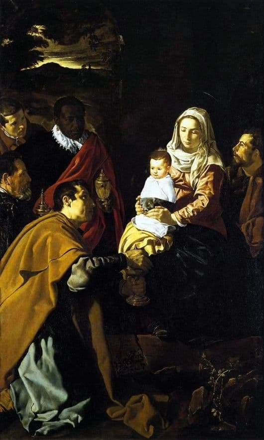 Description of the painting by the Adoration of the Magi by Diego Velázquez