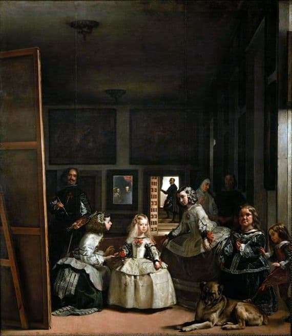 Description of the painting by Diego Velázquez Menin