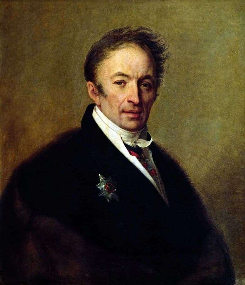 Description of the painting by Alexey Venetsianov Portrait of Karamzin