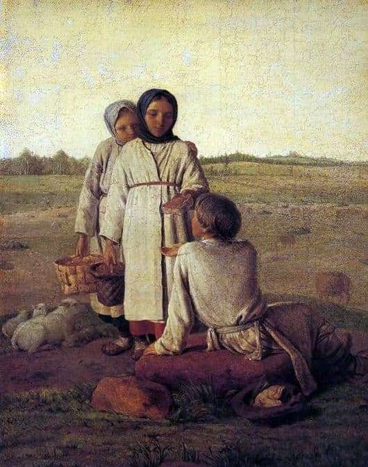 Description of the painting by Alexei Venetsianov Peasant children in the field