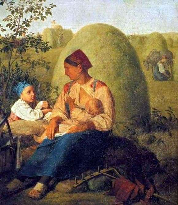 Description of the painting by Alexey Venetsianov Haymaking