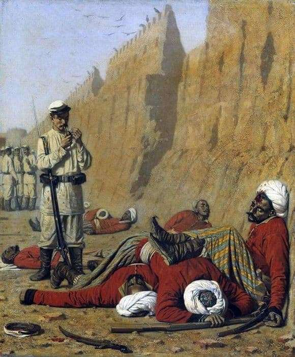 Description of the painting by Vasily Vereshchagin After failure