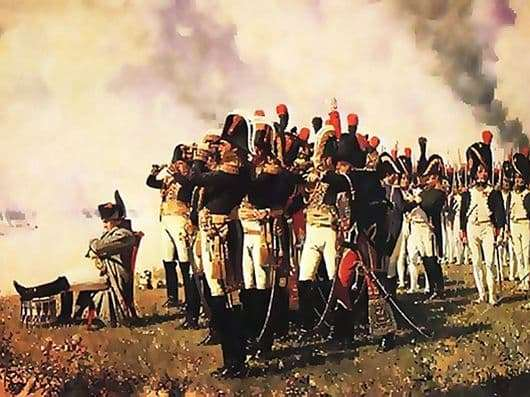 Description of the painting by Vasily Vereshchagin Napoleon at the Borodino Heights
