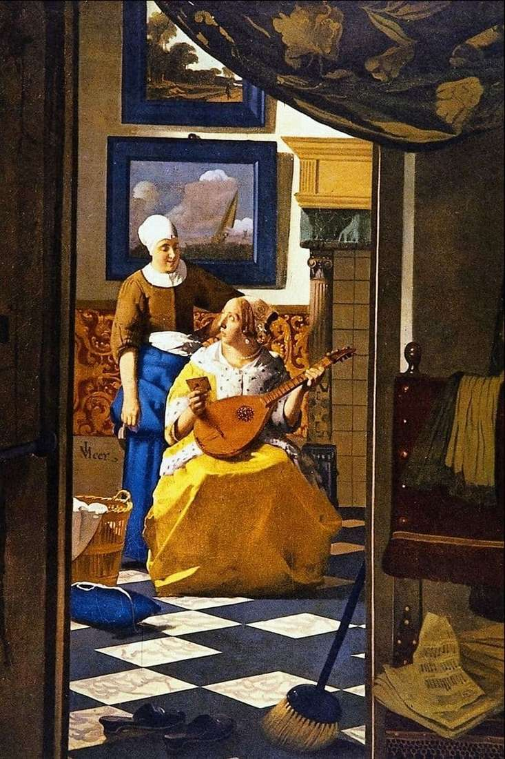 Description of the painting by Jan Vermeer Love Letter