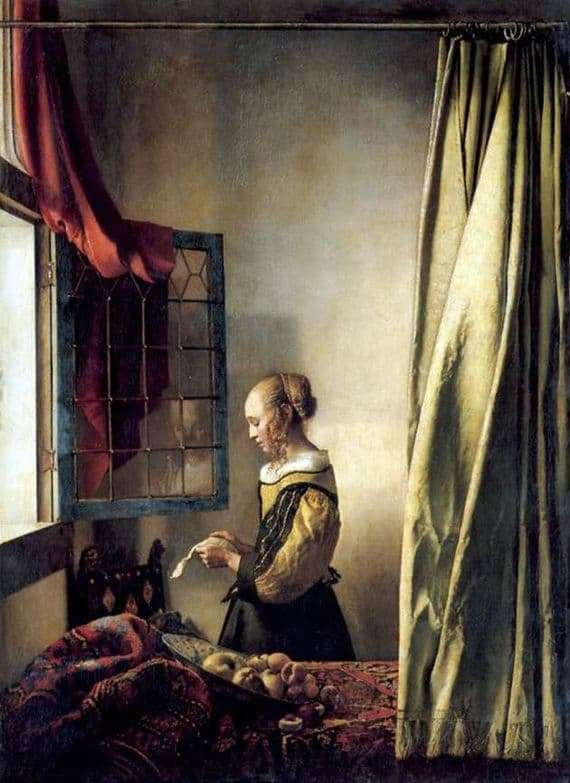 Description of the painting by Jan Vermeer A girl reading a letter at an open window