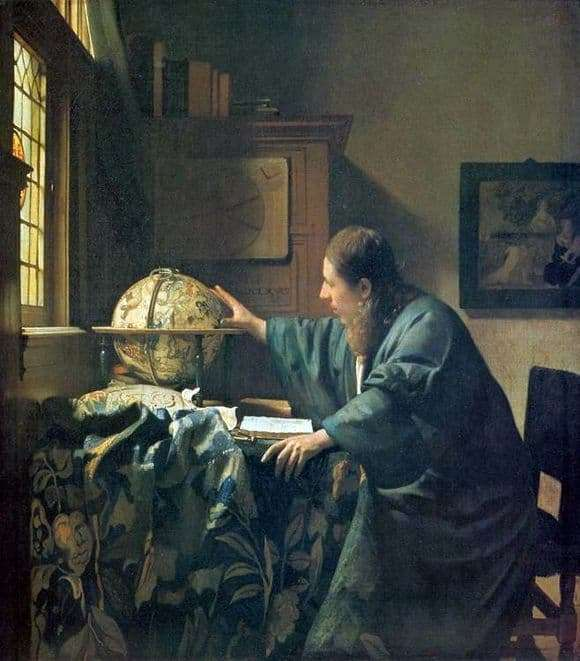 Description of the painting by Jan Vermeer Astronomer