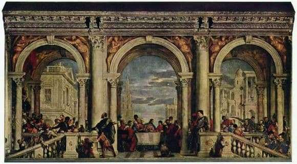 Description of the painting by Paulo Veronese Feast in the house of Levi