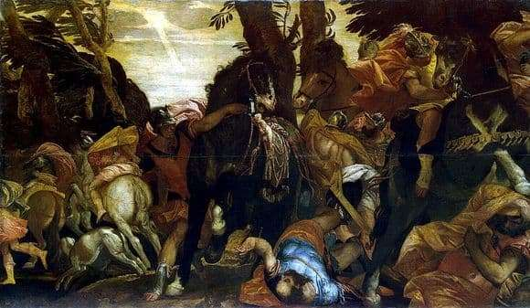 Description of the painting by Paolo Veronese The Conversion of Saul