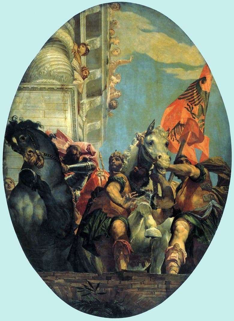 Description of the painting by Paolo Veronese The triumph of Mordecai
