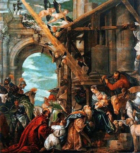 Description of the painting by Paolo Veronese Adoration of the Magi