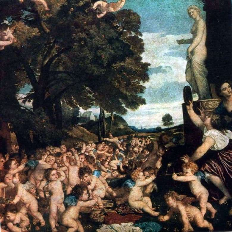 Description of the painting by Titian Vecellio Feast of Venus