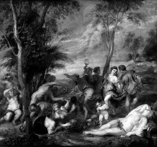 Description of the painting by Vecellio Titian Bacchanalia